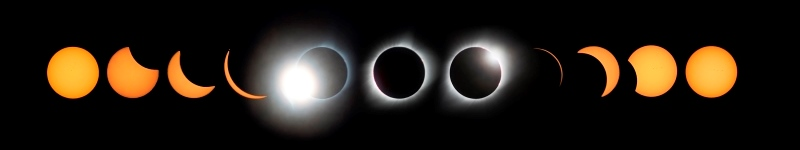 Photo by Jeremy Macy of Grand Island Total Eclipse Sequence from 8-21-2017